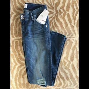 HUDSON Collin Distressed Skinny Jeans Triangle Pkt